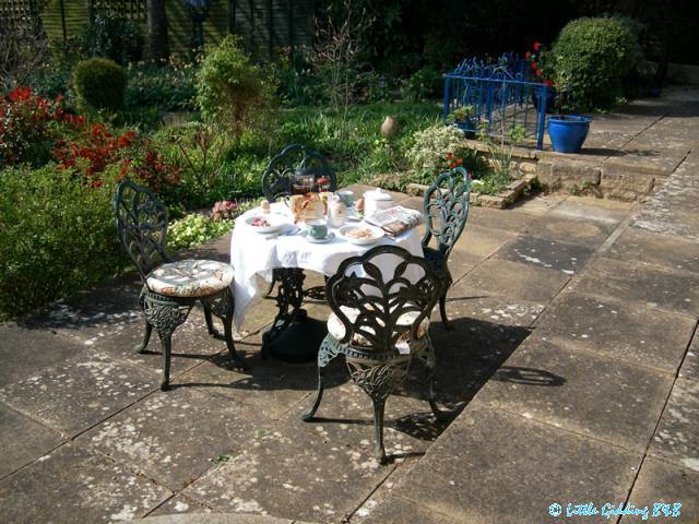 Breakfast can be served on the patio
