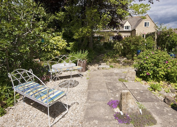 Seating in garden - afternoon tea can be served here