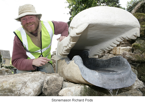 Stonemason Richard Pods