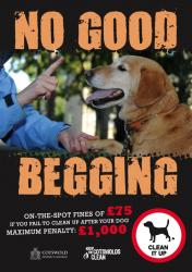 Cotswold District Council 'No Good Begging' poster