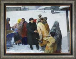 Lenin greeting the people by Alexei Ivanovich Makarov