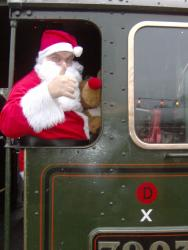 Santa at the Gloucestershire Warwickshire Railway